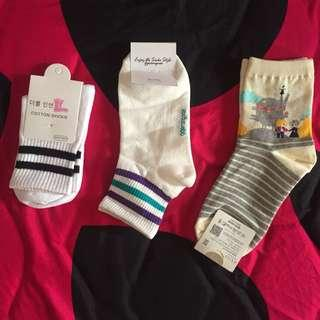 全新 韓國襪 條紋襪子 長襪 童話世界 台中可面交 買多優惠 三雙120