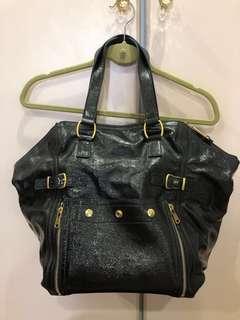 b13d6f6bf5 Yves Saint Laurent YSL Downtown Bag Vintage in Dark Navy Black
