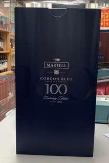馬爹利藍帶百周年紀念裝(1支70cL+1支20cl原酒)