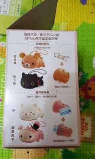 🚚 貨到付款【現貨】7-11集點 mochi家族 多功能絨毛玩偶 團長兔子證件套