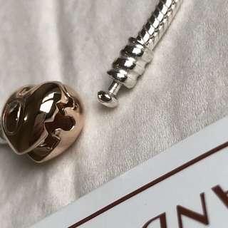 Guaranteed Authentic Pandora Bracelet Rose Gold Clasp
