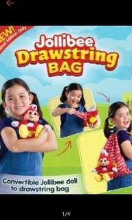 Jollibee Stufftoy and drawstring bag 2 in 1