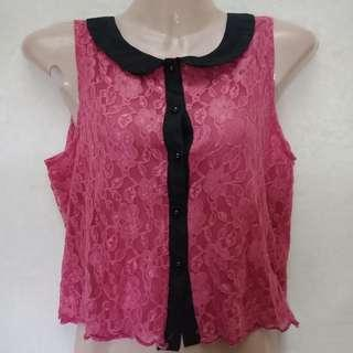 Lace Buttondown by Zoo
