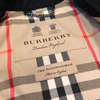 🚚 正Burberry sandringham 女款經典風衣中長版黑色(蜂蜜色石色蜜金色男款Heritage 短版風衣Kensington)全新UK6UK8UK10