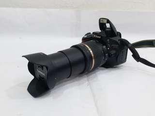 NIKON D5100 with 18-270mm Lens + 62mm UV Filter + 8GB SD card