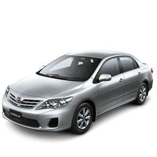 Weekly/Monthly Toyota Altis,Honda Civic( Personal-Grab-Gojek )