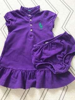 🚚 12M Polo Ralph Lauren Dress in purple