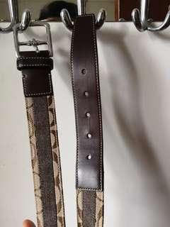 Coach signature logo belt經典腰帶皮帶