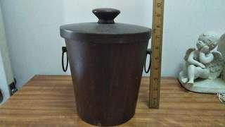 Wooden ice bucket vintage