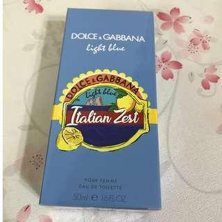 D&G light blue italian zest 香水 50ml