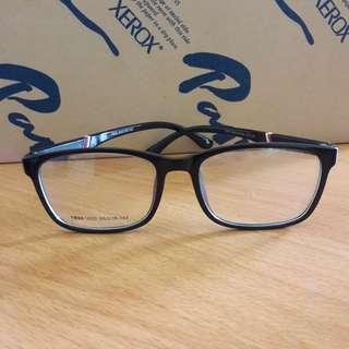 New Kacamata Bening Fashion Import Frame Hitam Bs Ganti Lensa Keren