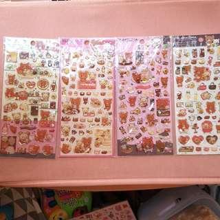 鬆弛熊貼紙 rilakkuma stickers