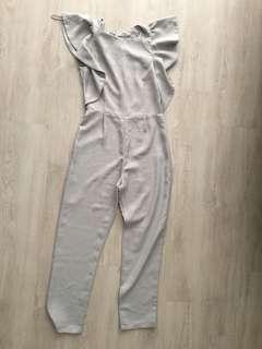 MISS SELFRIDGE(Petites) Grey Jumpsuit