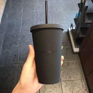 Starbucks matte black tumbler