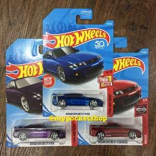 🚚 3x Hot Wheels NISSAN SKYLINE GT-R R33