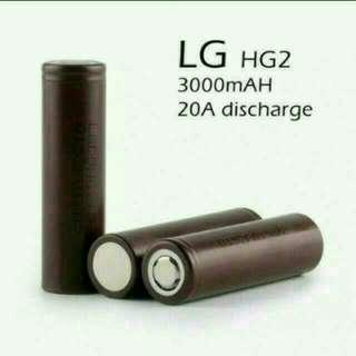 (In-stock) LG HG2 High Discharge 18650 Li-ion Rechargeable Battery 3,000 mAh - $12/PC