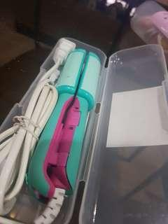 Cute hair straightener/curler