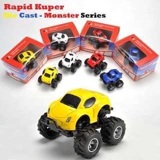 🚚 Rapid Kuper   Pull/Back   Die Cast - Monster Series