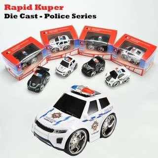 🚚 Rapid Kuper   Pull/Back   Die Cast - Police Series