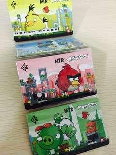 《全新》港鐵紀念車票 Angry bird x MTR 一套4張