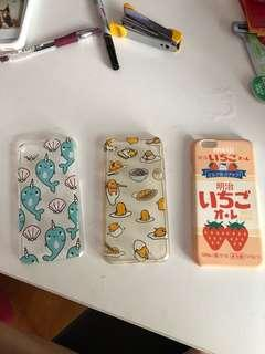 🚚 iPhone 6 Covers cute! (Whale, gudetama, Meiji)