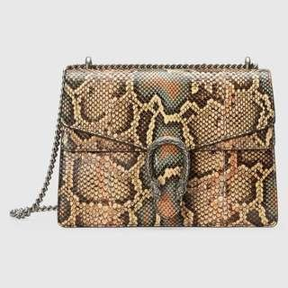Gucci Dionysus medium python shoulder bag