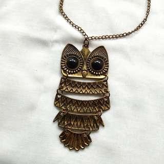 [PRELOVED] Kalung Owl #kalungtwyn