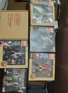 SHF Tony Stark Ori MISB + Revoltech Ori Iron Man Mark I-V BIB