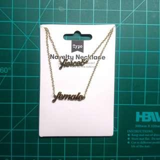 Fierce female Necklace from Typo