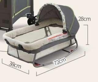 🚚 Mobile rocker baby cradle