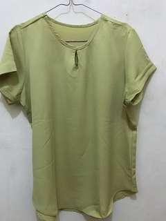 chartreuse blouse