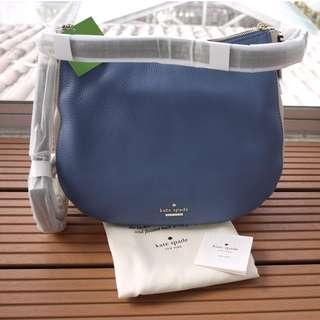 NWT Kate Spade Satchel Leather Blue Cream Jackson Street