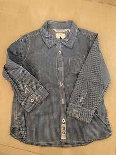 🚚 Boys blue button shirt
