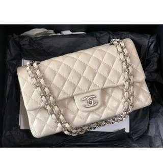ebfcab2ee4d63f Authentic Chanel Classic Medium Pearly Ivory Caviar Matte Shw