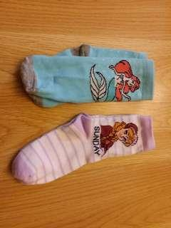 2對 全新 正版 disney anna Gap 馬莎 女童襪 (原價50蚊兩對)