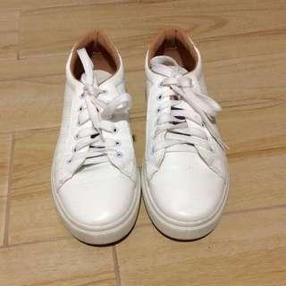 BROWN AND WHITE KOREAN SHOES