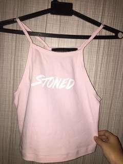 Stoned & Co Pink Halter Top