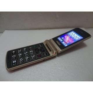 🚚 HUGIGA K55雙螢幕折疊老人機 3G 4G 皆可用,大按鍵、大字體、大音量、LED手電筒,功能都正常,只賣750元