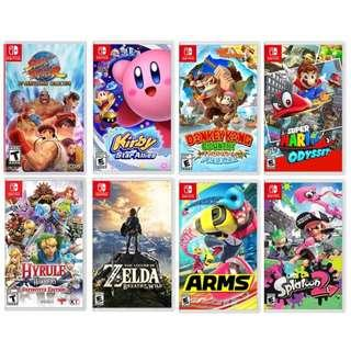 WTB switch games