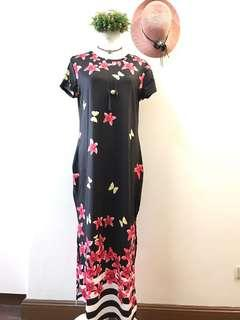 Maxi dress plus size floral