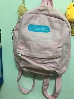 粉色小後背包