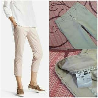 UNIQLO Stretch Cropped Pants (Natural JP 58)