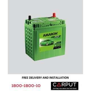 (38B20L) NS40ZL Car battery Amaron GO for PERODUA Myvi, Axia, Alza, Bezza, Viva, HONDA City. Bateri Kereta FREE Delivery & Installation for Klang Valley