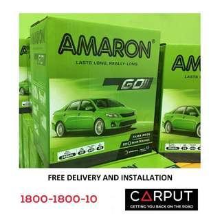 (46B24L) NS60L Car battery Amaron GO for HONDA (Civic, Accord), NISSAN (Livina, Sylphy, Almera, Latio, March, Skyline) Bateri Kereta FREE Delivery > Installation for Klang Valley