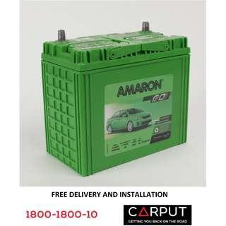 (46B24R) NS60 Car battery Amaron GO for PROTON Saga,Wira, Iriz. Bateri Kereta FREE Delivery > Installation for Klang Valley