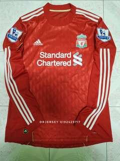 Liverpool Jersey home kit 2010 long sleeve
