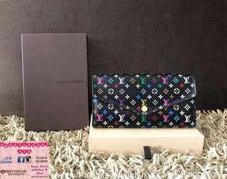 "97% NEW LV ""NEW SARAH WALLET"" MULTICOLORE"