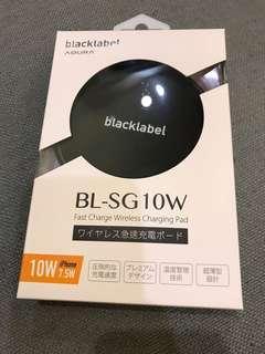 🚚 Blacklabel BL-SG10W 無限快速充電板、黑色 座充/旅充