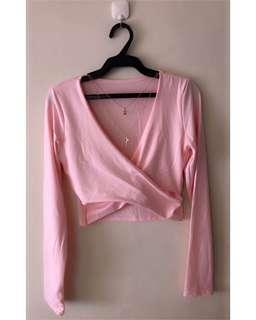 Wrap polo pink