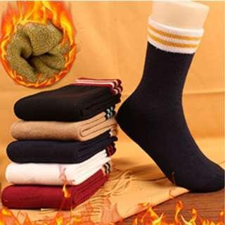 撞色中筒襪|日韓學院風|春秋加厚純棉|彈性耐穿